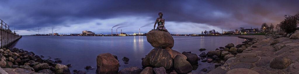 Памятник Русалки в Копенгагене