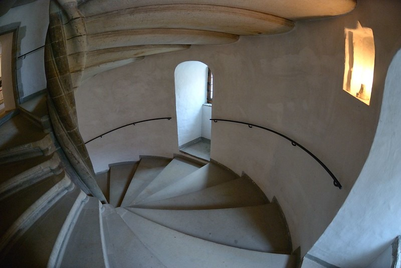 Лестницы замка Кронборг в Дании
