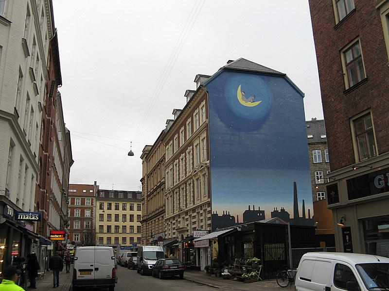 Копенгаген - улица Værnedamsvej района Вестербро