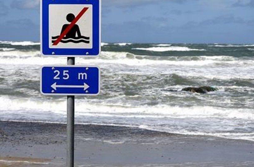 Памятка туристу по Дании - Запрет купания Badning Forbudt