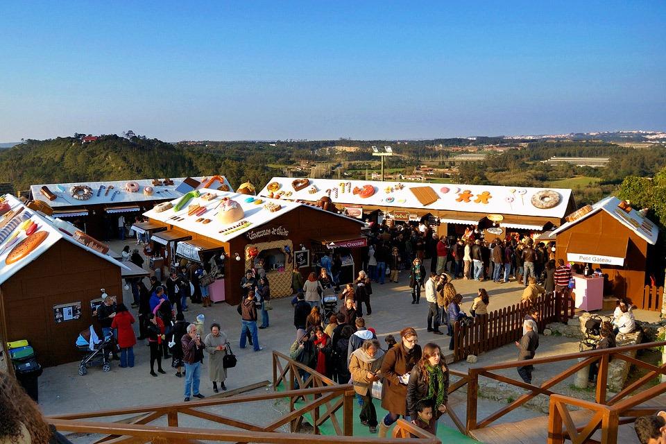 Фестиваль шоколада в Обидуш Португалия