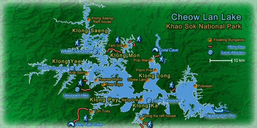 Карта Национального парка Као Сок