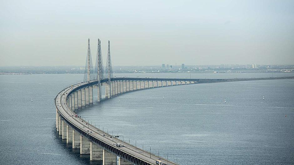 Дания автодороги - Мост Øresundsbroen