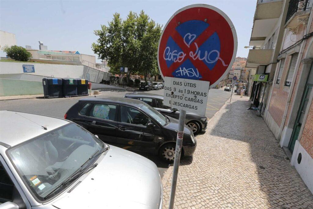 Парковка в Португалии Лиссабон