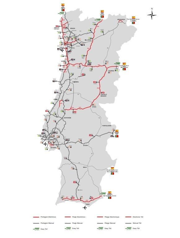 Карта дорог Португалии