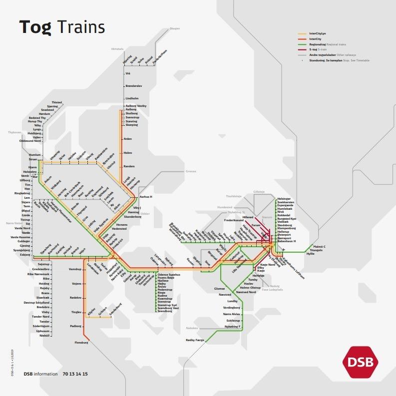 Предпросмотр - Карта железных дорог Дании