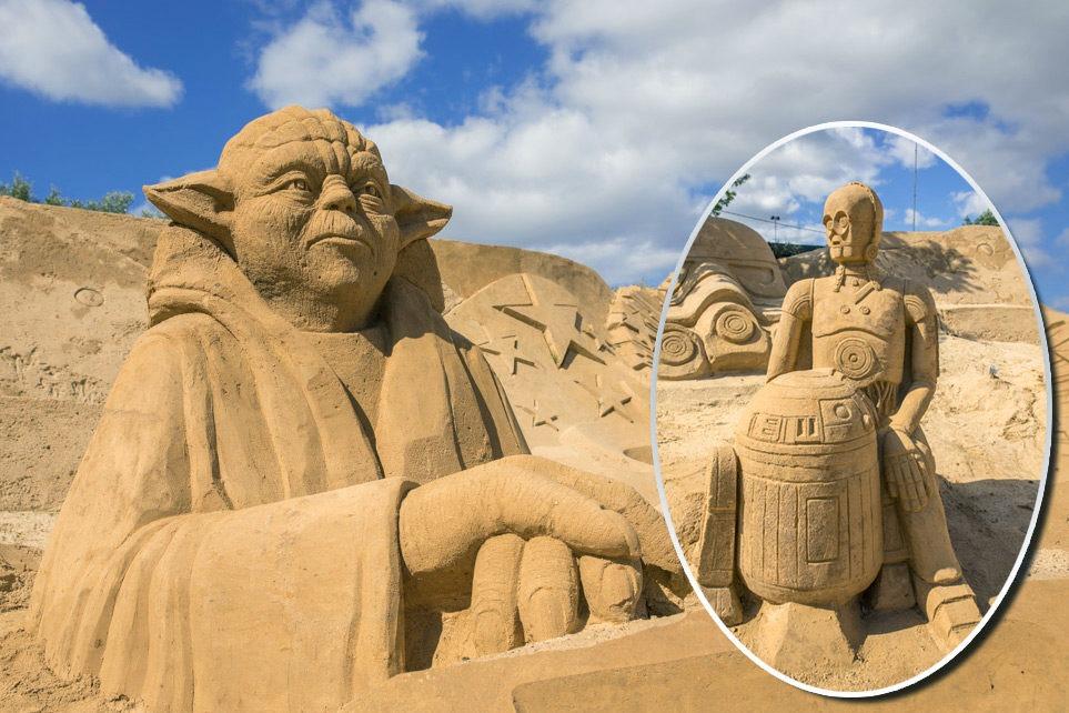Фестиваль скульптур из песка в Португалии