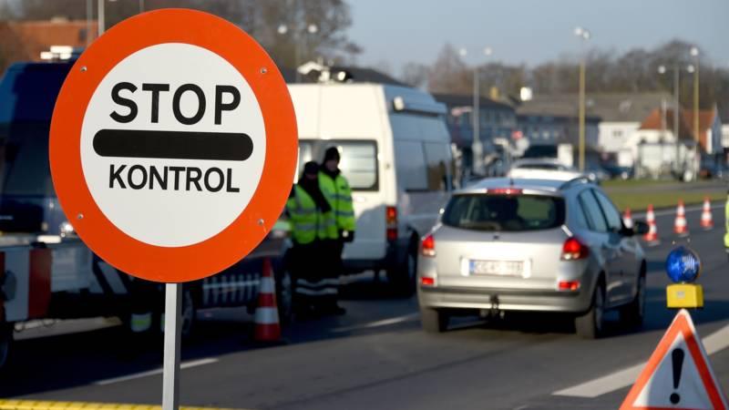 Дания границы - Знак стоп контроль