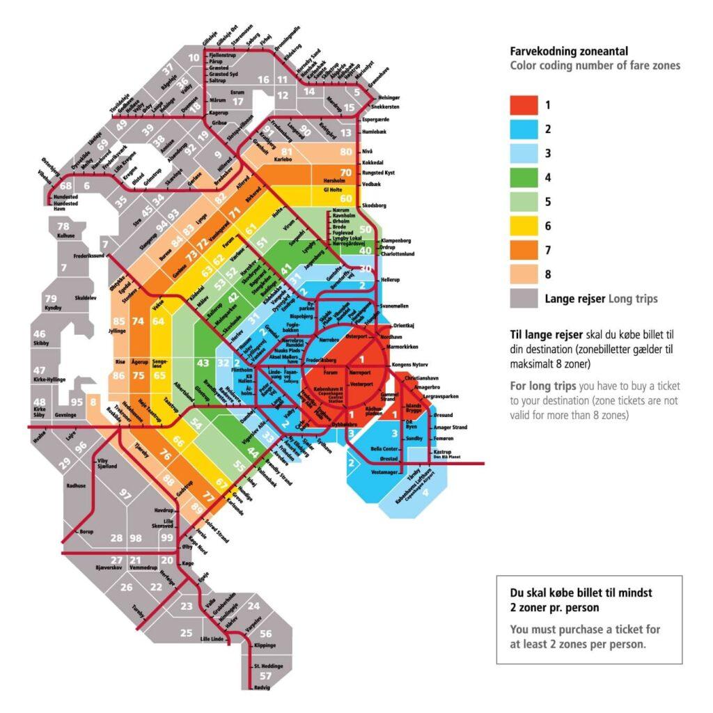 Схема Копенгагена по зонам