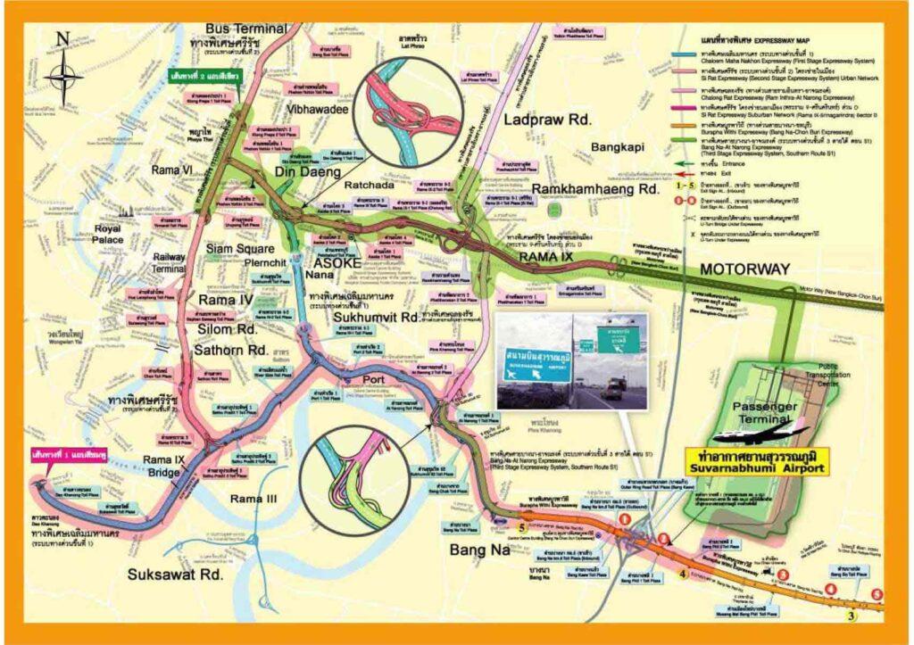 Карта дорог Бангкока