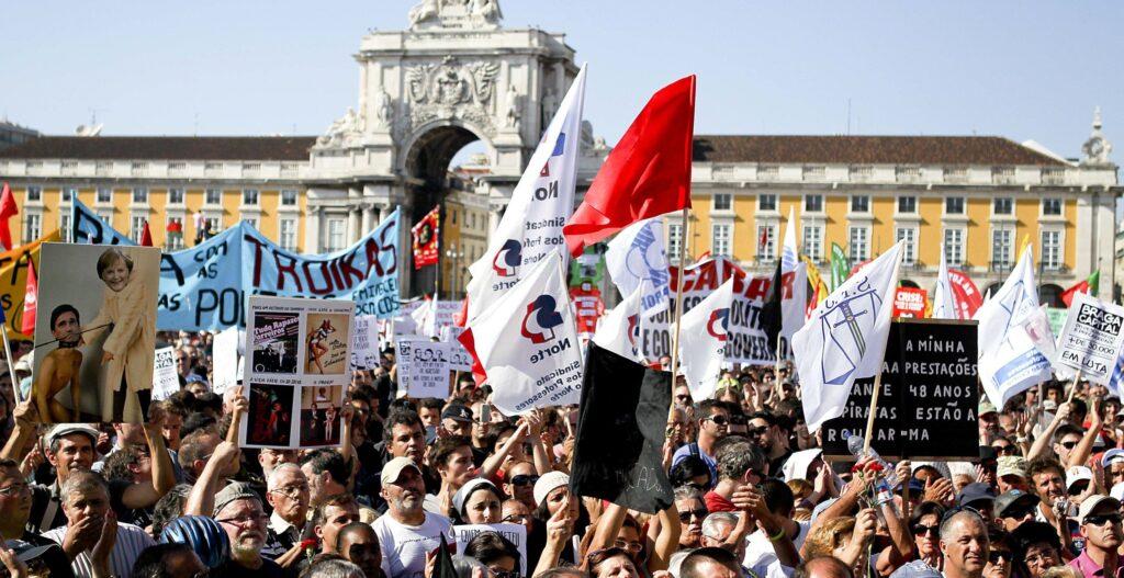 Демонстрации в Португалии