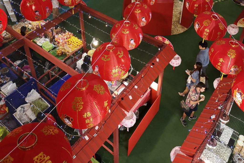 Рынок Бангкока вид сверхку