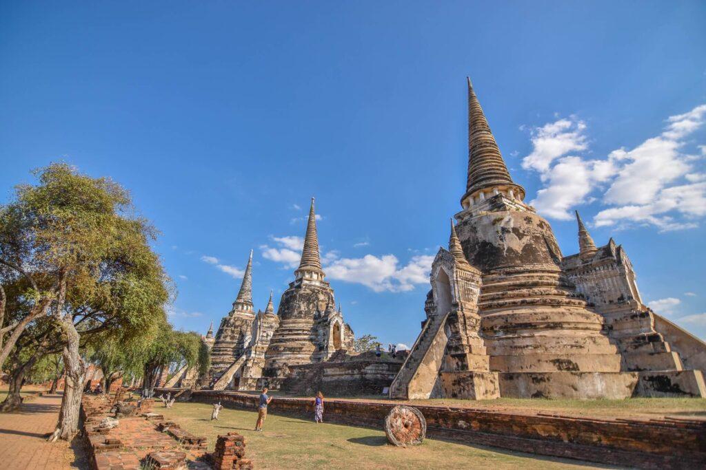 Храм древней Аюттайи Таиланд