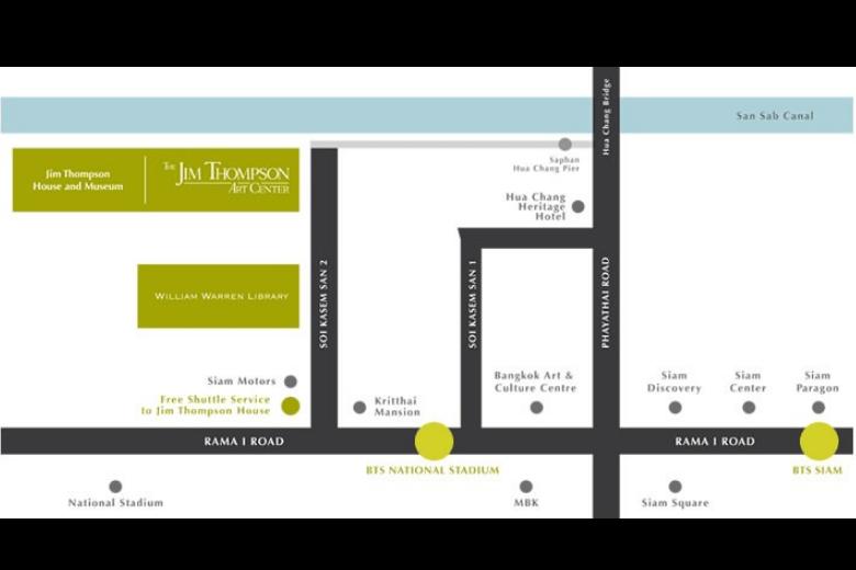 Схема Дома-музея Джима Томпсона