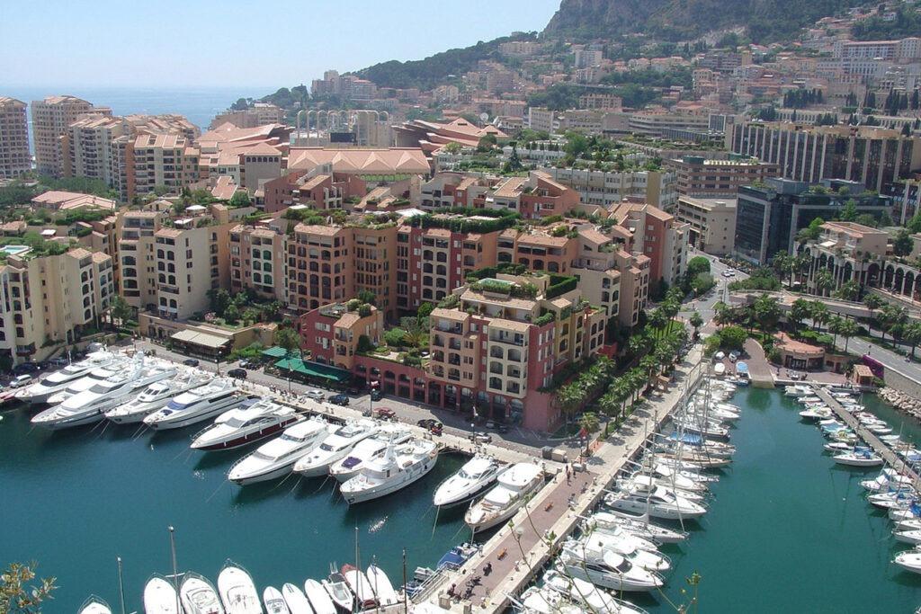 Монако вид сверху