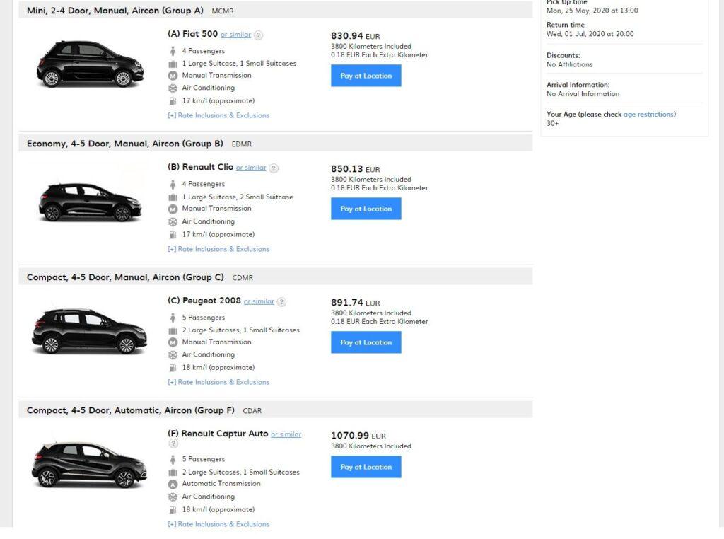 Аренда авто в Монако на сайте онлайн