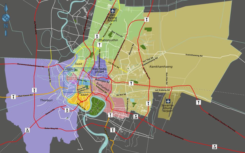Карта районов Бангкока