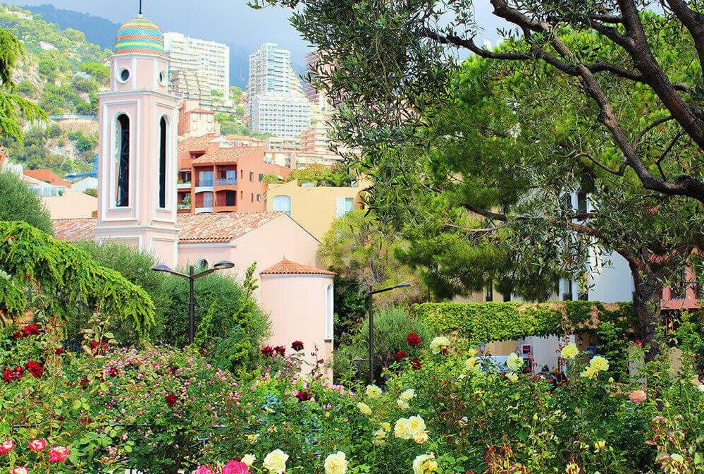 Парк Princess Grace Rose Garden в Монако