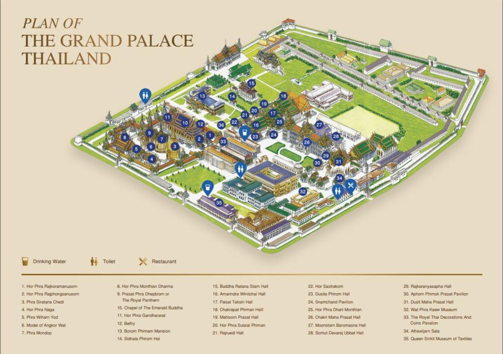 Карта Большого дворца