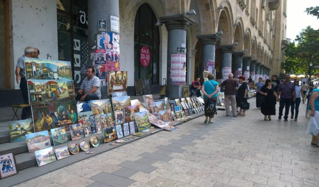 Рынок на проспекте Руставели Тбилиси