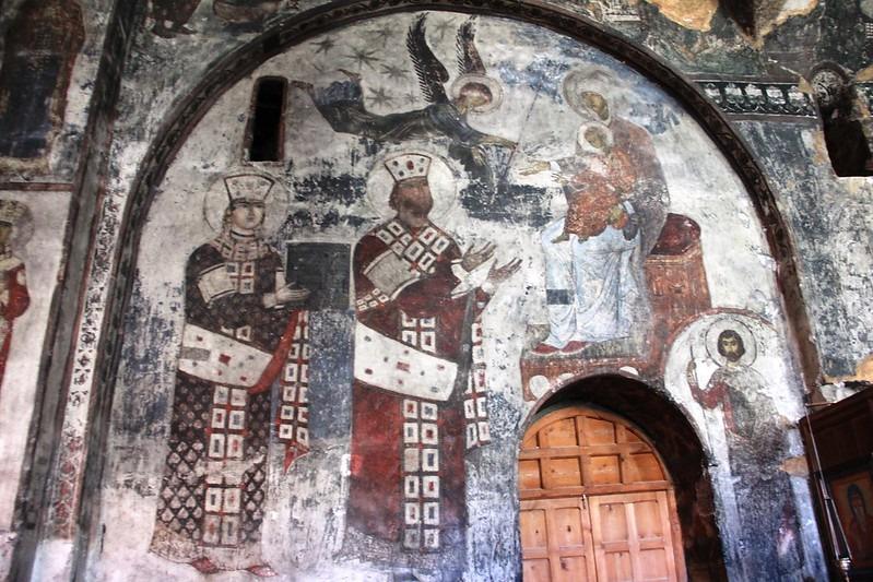 Фрески в храме в честь Успения Богородицы Вардзиа