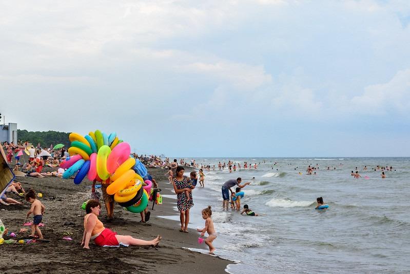 Отдых с ребенком - пляж Уреки