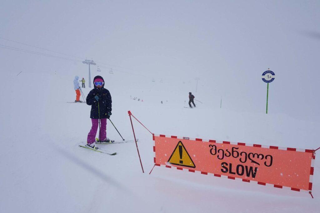 Лыжный отдых с ребенком в Грузии - горнолыжный курорт Гадаури