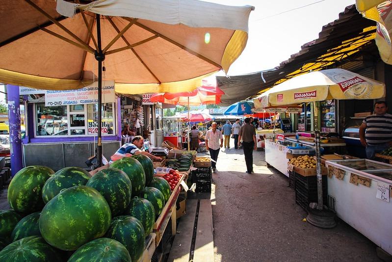 Район Дидубе Тбилиси - Дидубийский рынок