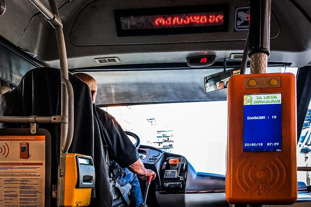 Как оплачивать проезд в автобусах в Батуми