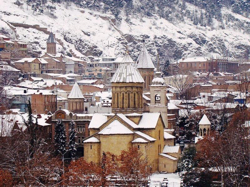 Погода зимой в Тбилиси
