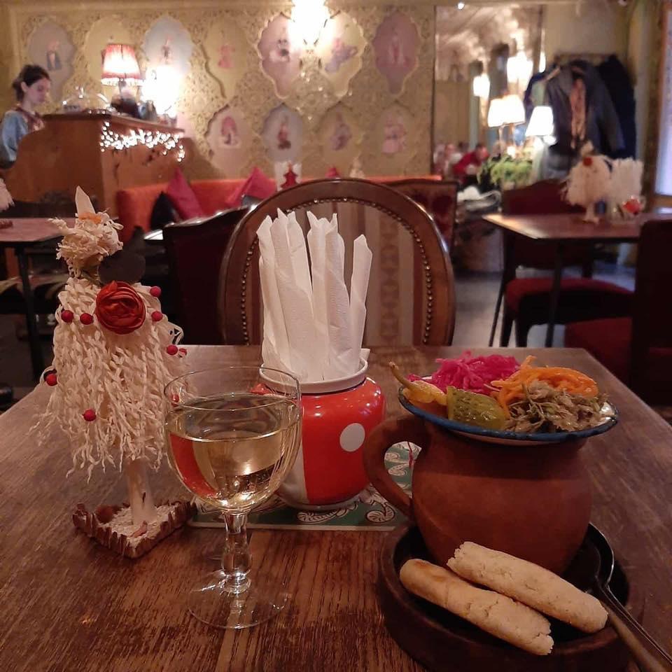 Вегетарианское меню в Тбилиси - кафе Leila в Тбилиси