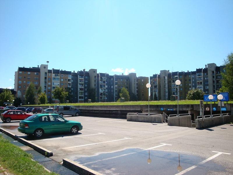 Парковки в городе Крань, Словения