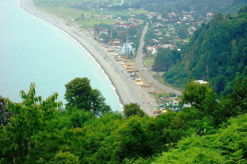 Пляж Квариати около Батуми
