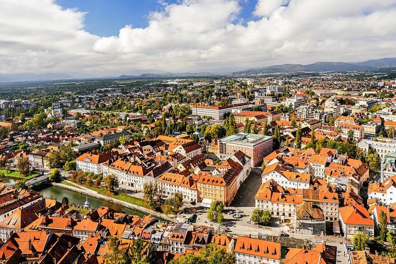 Старый город Любляны — вид с замка