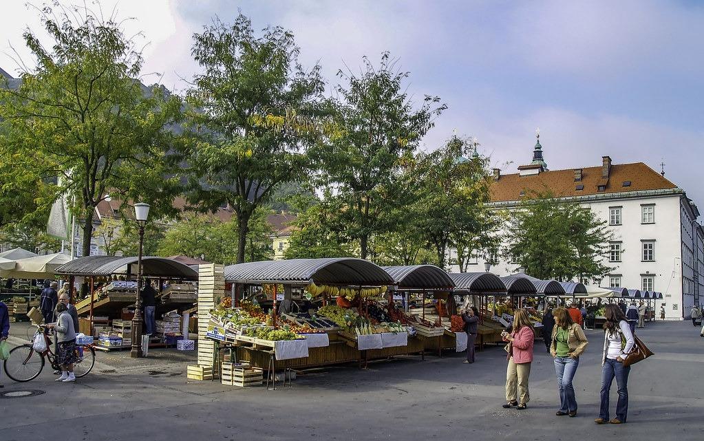 Центральный рынок Любляны Словения
