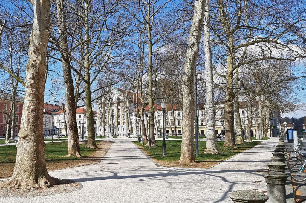 Март в Любляне