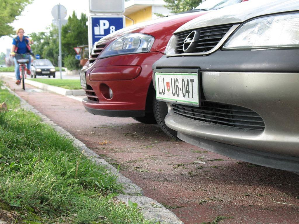 Парковка в Словении