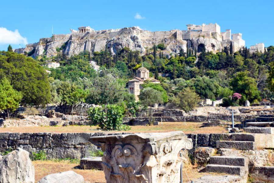 Афинская агора, как попасть