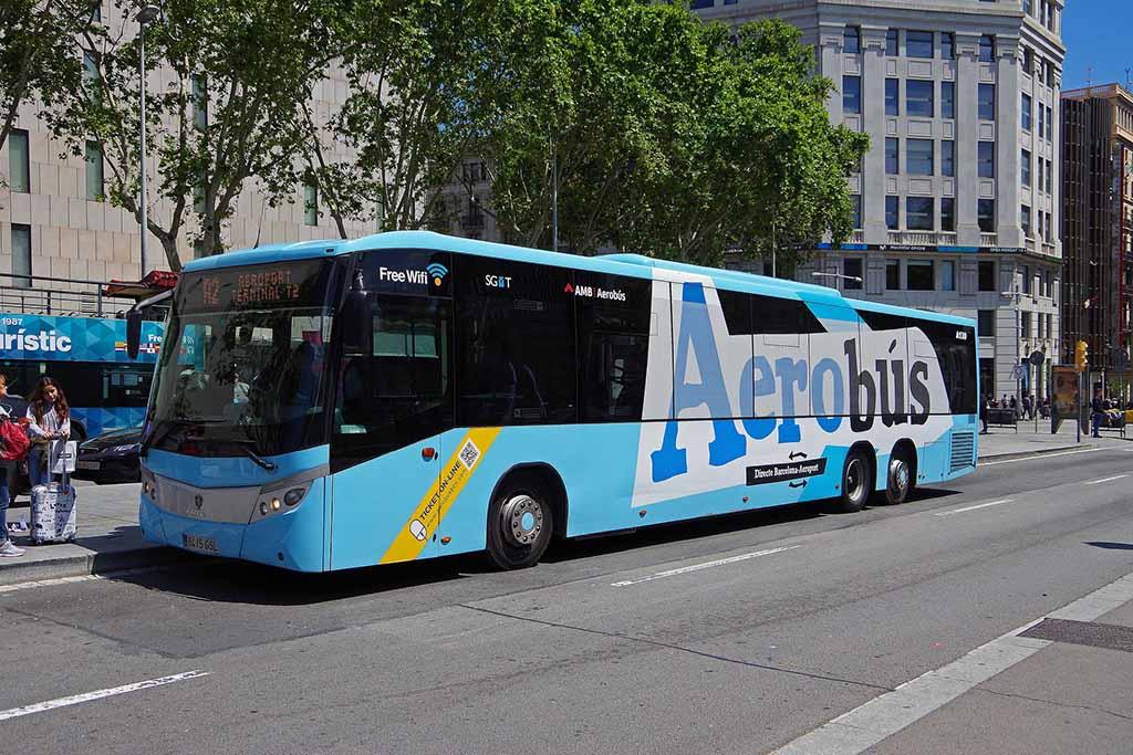 Из аэропорта Барселоны на аэробусе