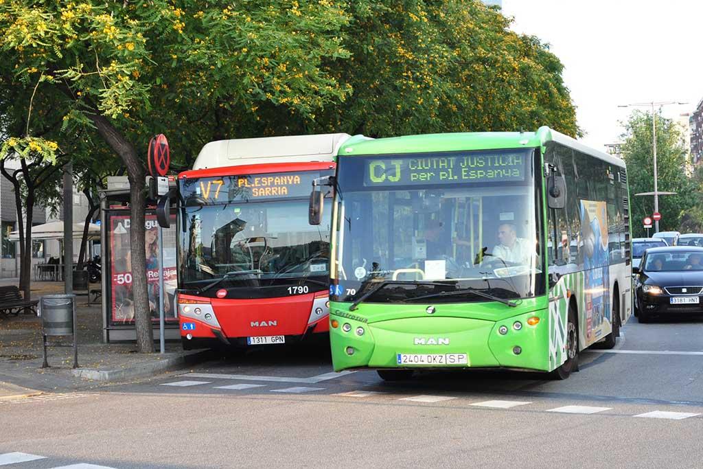 Автобусы в Барселоне