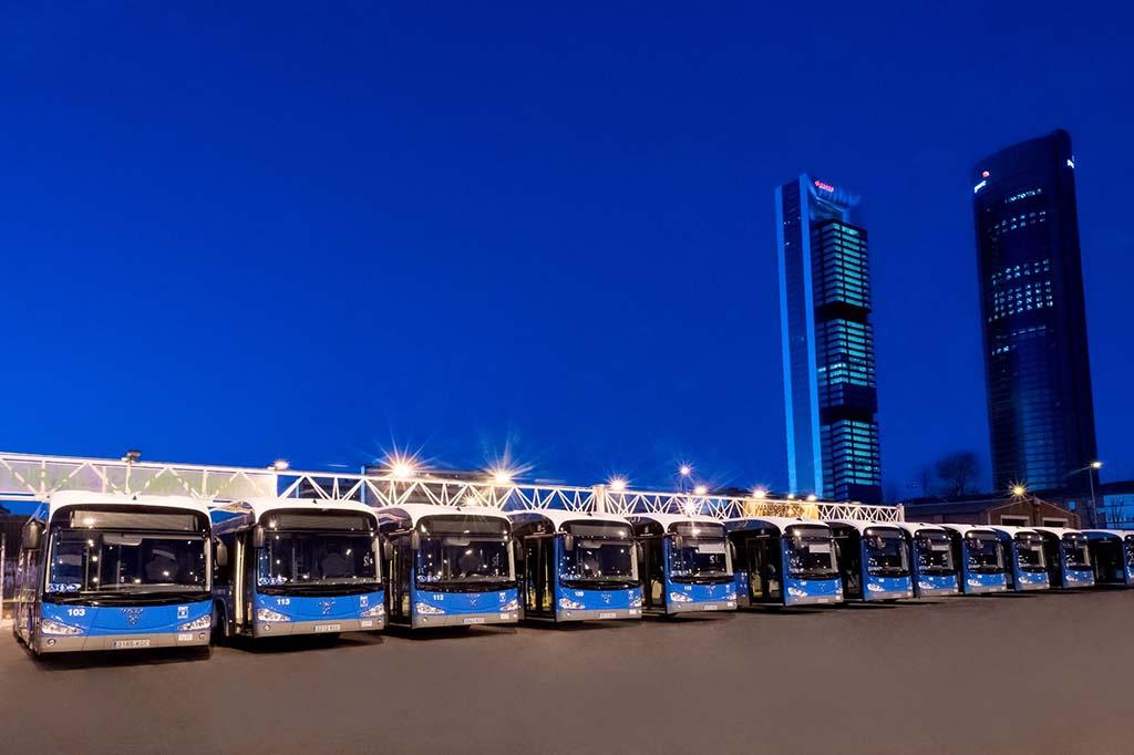 Нулевые автобусы в Мадриде