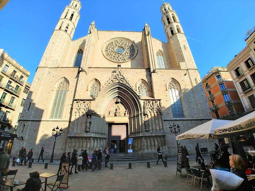 Где находится церковь Санта Мария дель Мар, Барселона