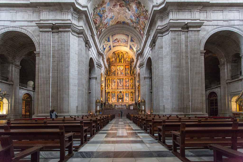 Церковь Эль Эскориал около Мадрида