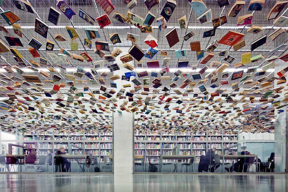 Библиотека музея современного искусства в Стамбуле, фото