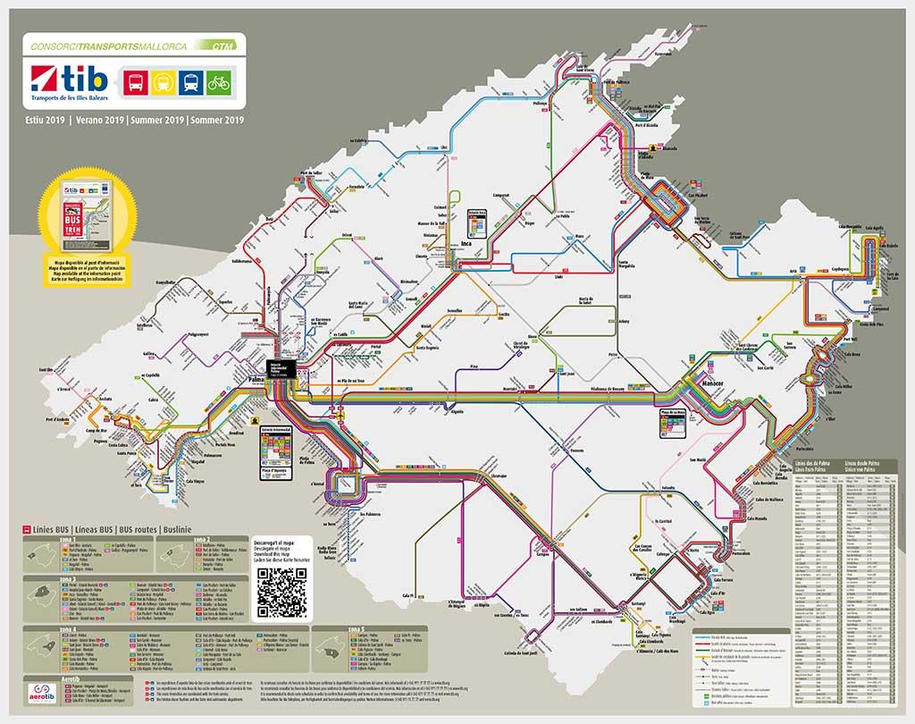Cхема автобусов Майорки
