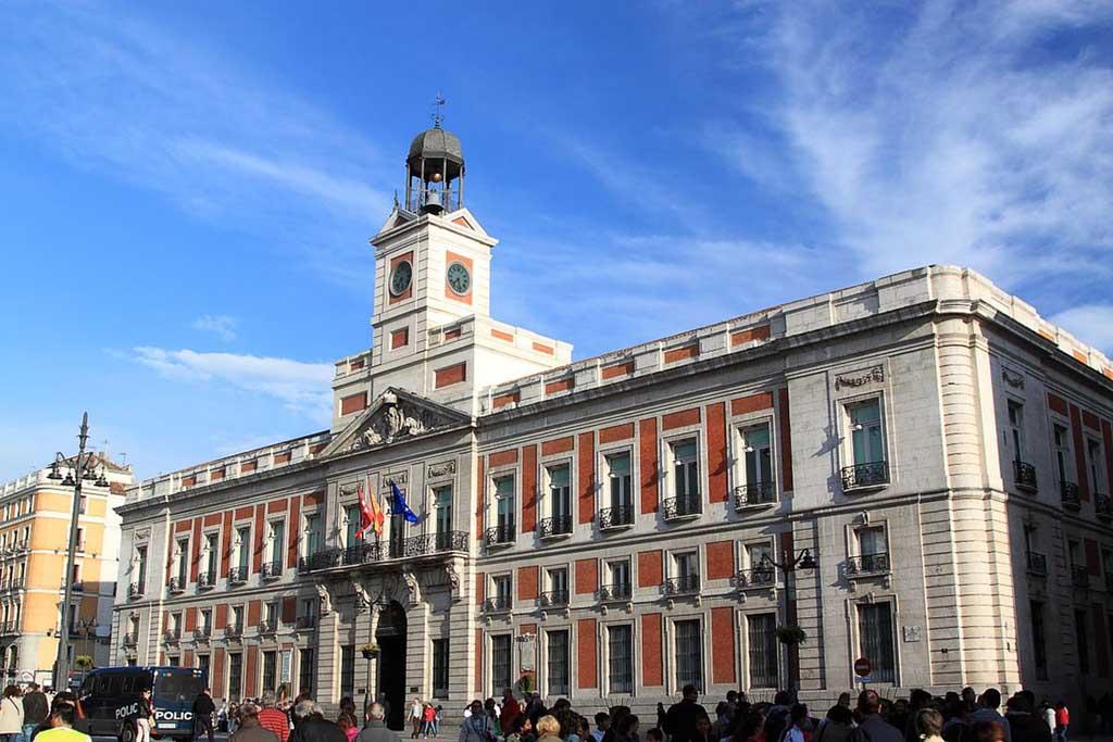 Мадрид, дом почты на Пуэрто дель Соль
