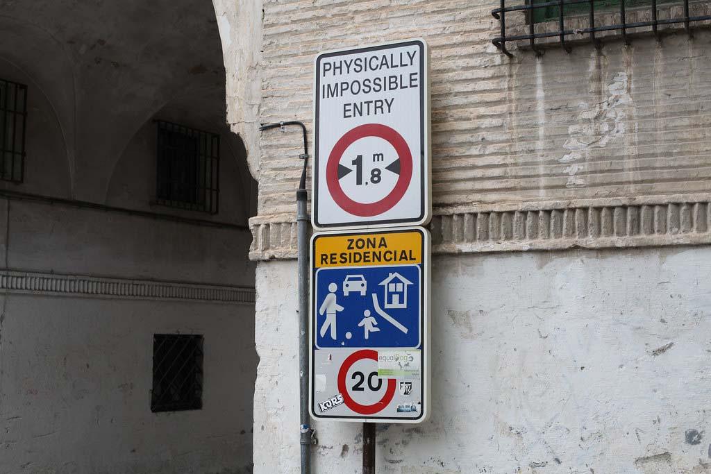 Дорожные знаки Испании