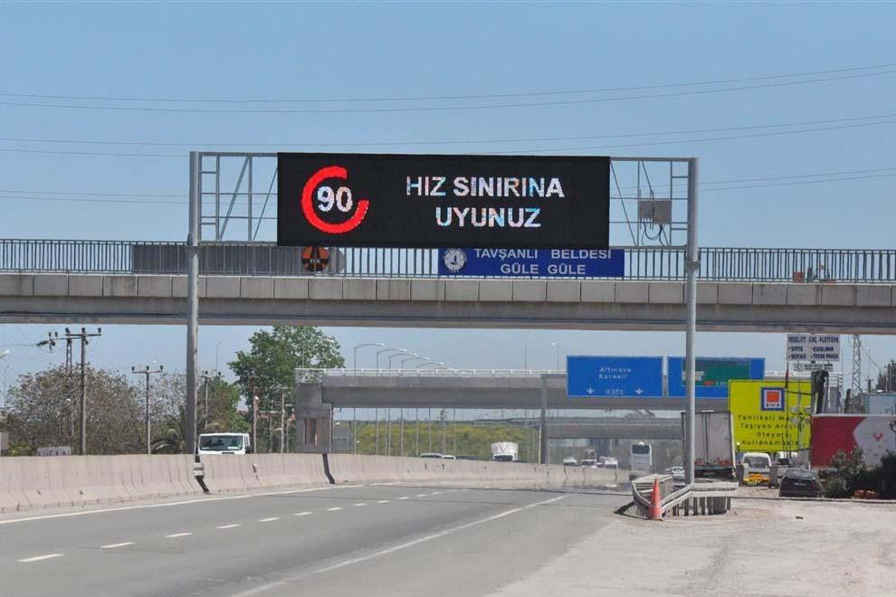Дорожные знаки в Турции