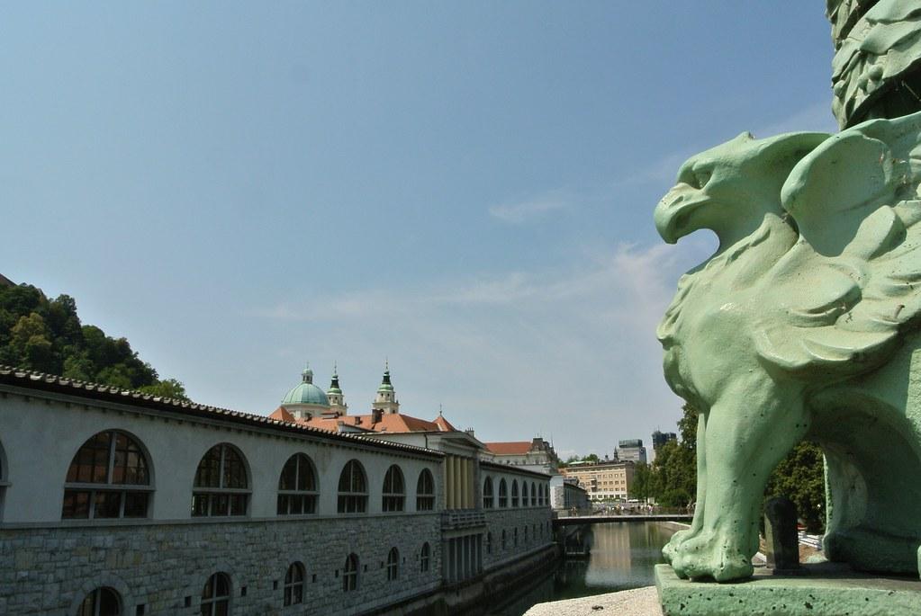 Достопримечательность Любляны — Драконов мост