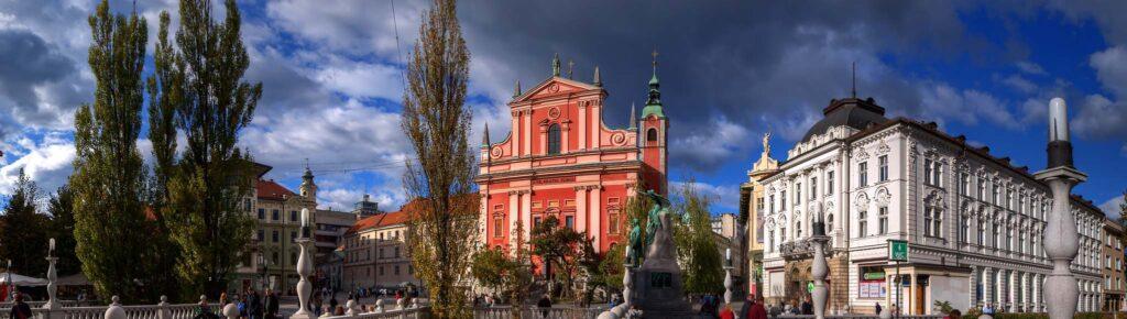 Францисканская церковь в столице Словении, Любляна